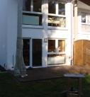 Montagebeginn in Heidelberg