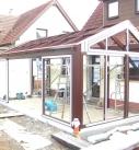 Satteldachkonstruktion in Holz-Alu
