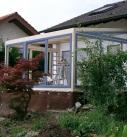 Montage am Holz-Aluminium Wintergarten