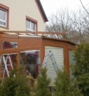 Montage der Dachbeschattung