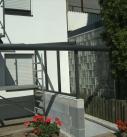 Seitenverglasung am Terrassendach