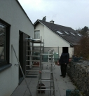Montagebeginn in Leonberg
