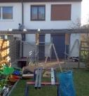 Montagebeginn in Möckmühl am Terrassendach