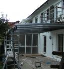 Montage der Aluminium Konstruktion in Neuenstadt