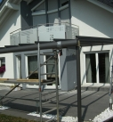 Aluminium Terrassendach Konstruktion