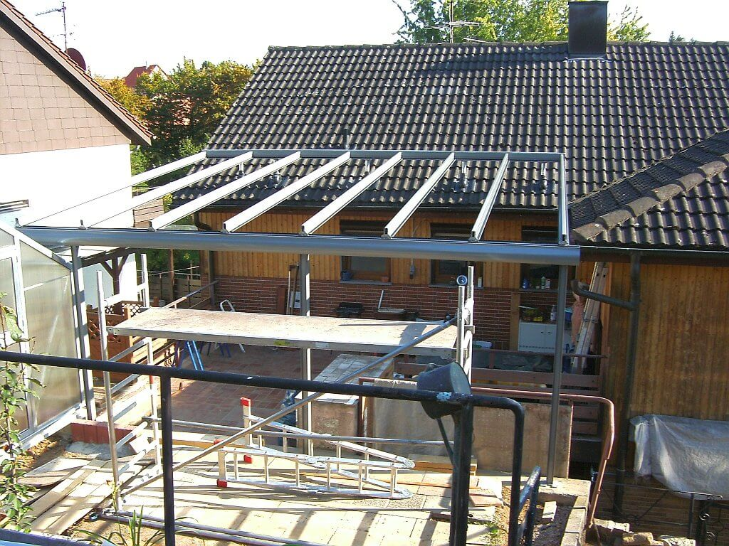 Terrassendach tisheim wohlfuehlwintergarten Markisen auf dach montage