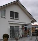 Montagebeginn am Terrassendach