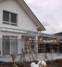Montage der Terrassendach Konstruktion