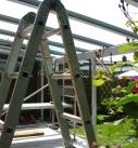 Beim Einglasen der Terrassendach Konstruktion