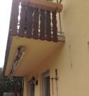 Detail am Balkonanschluss für das Terrassendach