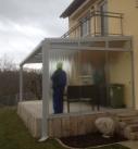 Terrassendach mit Seitenverglasung