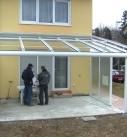 Abnahme der Terrassenüberdachung in Winnenden
