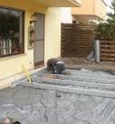 Errichtung des Stahlfundamentes