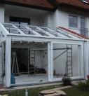 Aufbau der Satteldachkonstruktion