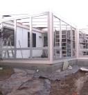 Montage der Holz-Aluminium Wintergartenelemente
