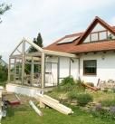 Aufbau vom Wintergarten in Schwaigern