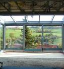 Innenansicht vom Wintergarten während der Montage