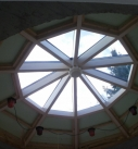 Innenansicht der Lichtkuppel in Stammheim