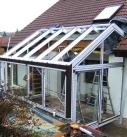 Montage der Satteldach-Konstruktion