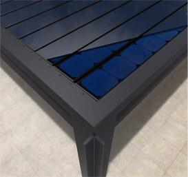 Solar Lamellendach Draufsicht 2