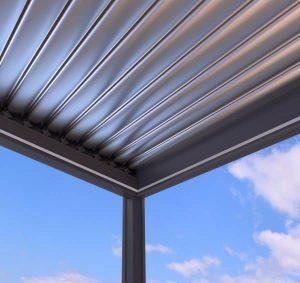 Solarlamellendach geschlossen